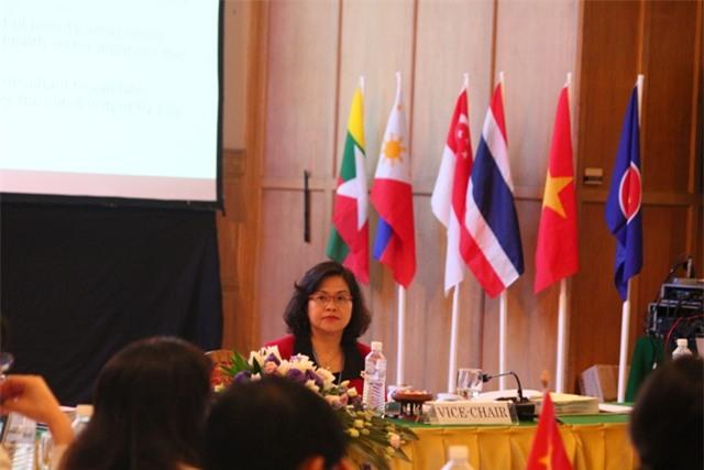 TS. Trần Thị Giáng Hương, Vụ trưởng Vụ Hợp tác quốc tế (Bộ Y tế), Trưởng đoàn Việt Nam tham dự hội nghị.