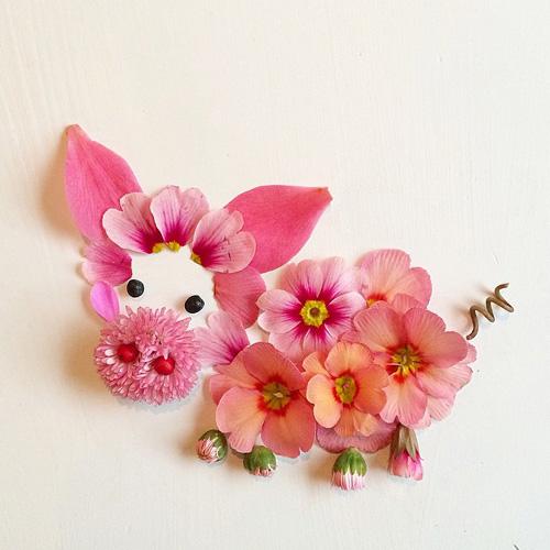 Những bức tranh tuyệt đẹp từ rau quả và hoa lá - Ảnh 6