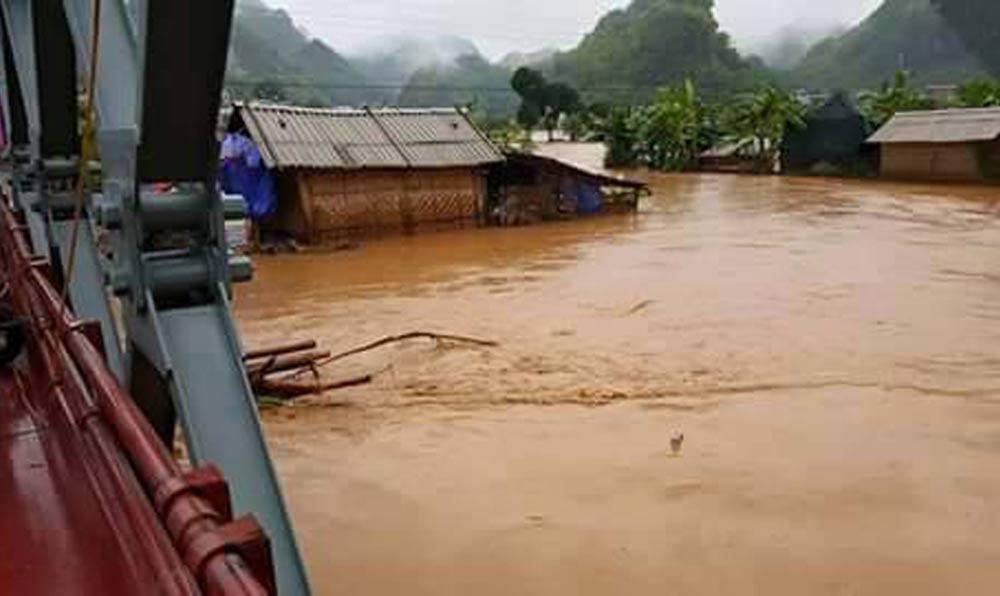 Sơn La ngập lụt vì mưa lũ