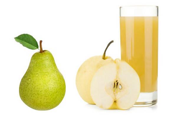 Giảm táo bón cho trẻ bằng nước ép lê