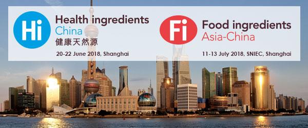 Triển lãm uy tín về thực phẩm chức năng, thành phần thực phẩm Hi China và Fi Asia-China 2018